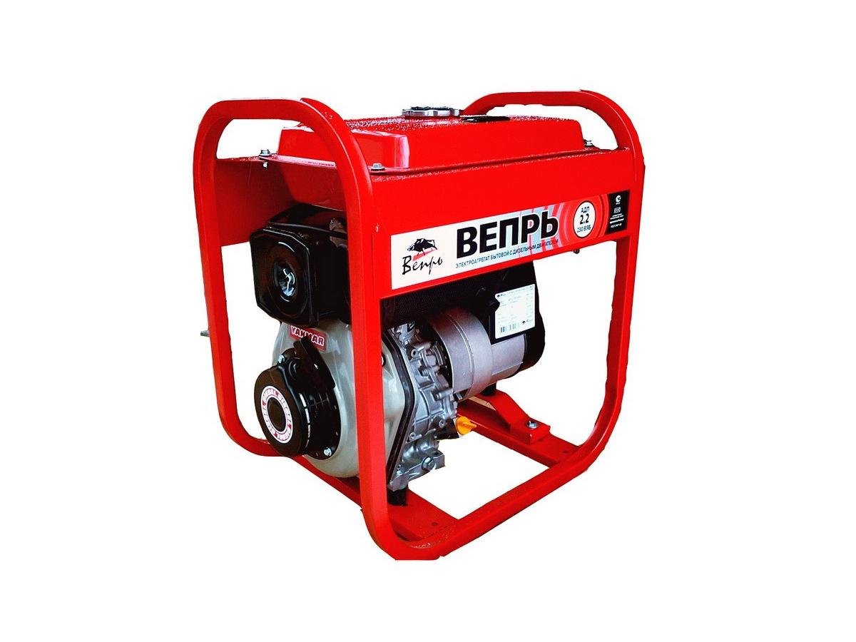 Дизельный генератор (электростанция) ВЕПРЬ АДП 2,2-230 ВЯ-Б